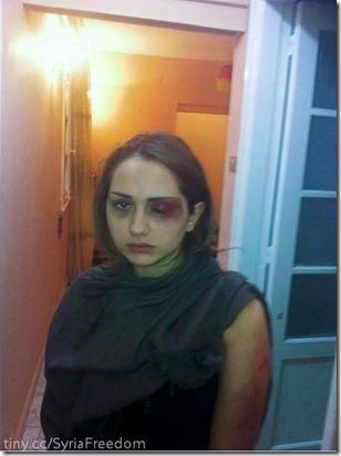هديل كوكي، إعتدى عليها شبيحة بشار الأسد والعلويين في القاهرة، مصر